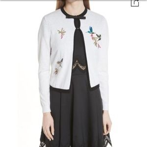 ✨Ted Baker Embroidered Cardigan✨